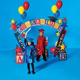 Children Graduation Blocks Background & Prop Kit