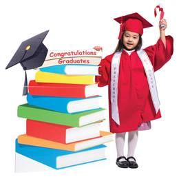 Congratulations Graduate Book Stand Stage Prop Kit