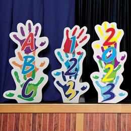 Kid's Handprints Stands & Stage Prop Kit