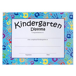Kindergarten Diploma - Handprints