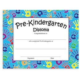 Pre-K Diploma - Handprints