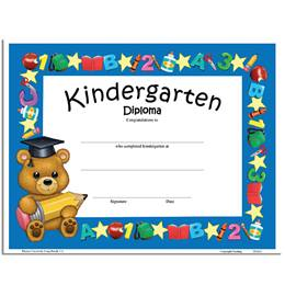 Teddy Bear Diploma - Kindergarten