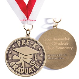 Engraved Medallion - Pre-K Graduate