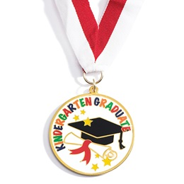 Kindergarten Graduate Enamel Medallion