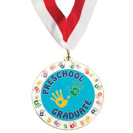 Enamel Medallion - Handprints Preschool Graduate