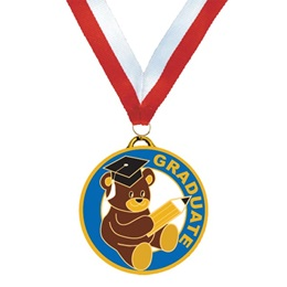 Enamel Medallion - Teddy Bear/Graduate