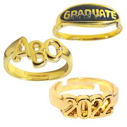 Children's Themed Graduation Rings