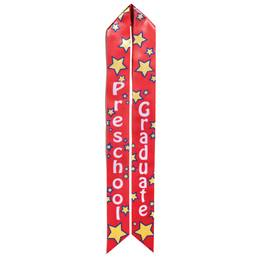 Preschool Graduation Sash - Red and Yellow Stars