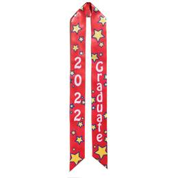 2020 Graduation Sash - Red and Yellow Stars