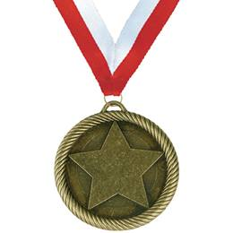 Sculpted Brass Medallion - Star