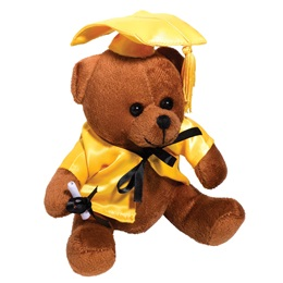 Graduation Teddy Bear - Gold