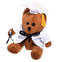 Graduation Teddy Bear - White