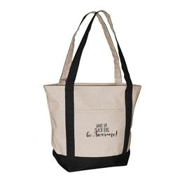 Wake Up. Teach Kids. Be Awesome! Tote Bag