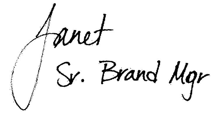 Janet Sr Brand Manager